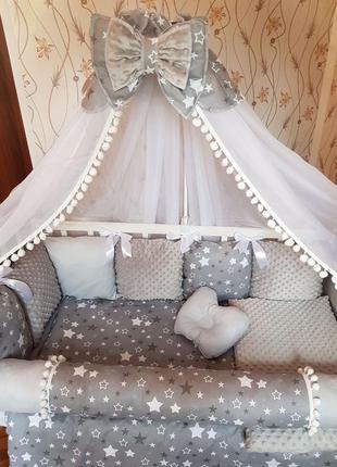 Бортики для новорожденного,защита в кроватку для маладенца,бал...