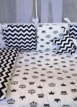 Постельное белье для детской кроватки, бортики в кроватку,ново...