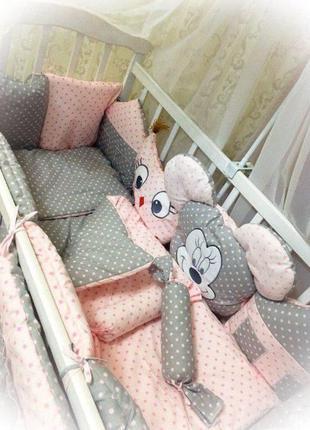 Бортики подушки в кроватку для малышей, защита в кроватку для ...