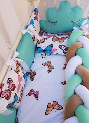Защита в детскую кроватку,постільна білизна для малюка,балдахі...