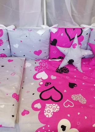 Бортики в кроватку,постельное белье для новорожденного цена от...