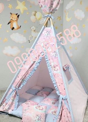 Детская игровая палатка,шалаш,вигвам,система антискладывания р...
