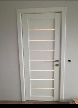 Межкомнатные двери крашенный МДФ+шпон экологически чистые