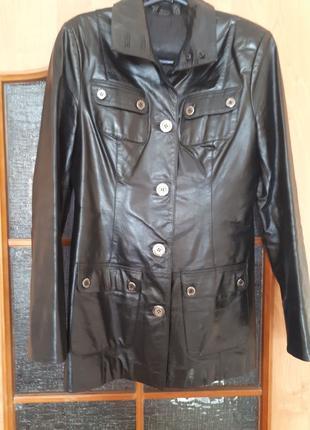 Итальянский женский кожаный пиджак френч, куртка, жакет Vera P...