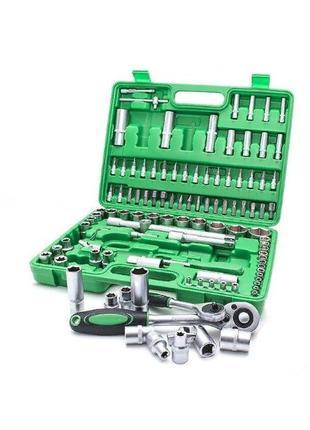 Автомобильный набор инструментов 108 штук в кейсе + подарок