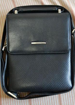 Качественная мужская сумка, барсетка с двумя клапанами Gorangd...
