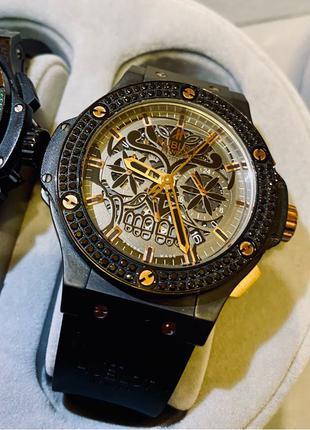 Hublot Big Bang Aero Bang Sugar Skull Diamonds All Black-Gold