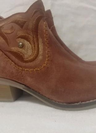 Bugatti кожаные ботинки шкіряні черевики р. 39 ст. 25,5 см