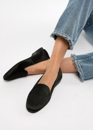 Натуральные кожаные лоферы туфли балетки кожа асос asos