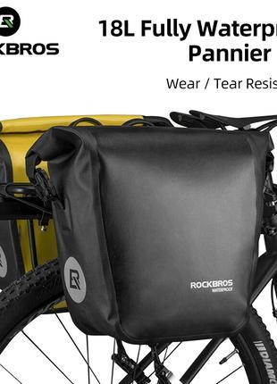 ROCKBROS велосумка Велобаул водонепроницаемая Cумка на багажник