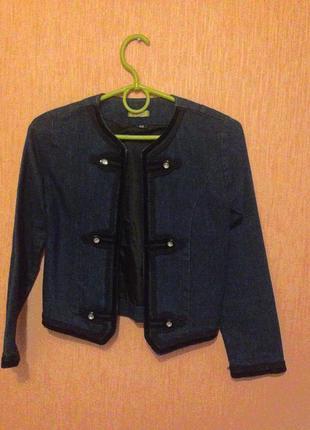 Джинсовый пиджак куртка для девочки