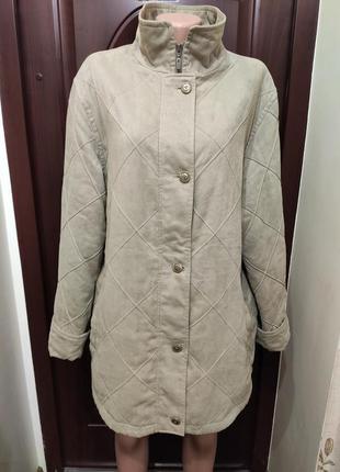 C&a демисезонная велюровая куртка