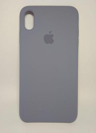 Задня накладка iPhone XS MAX Original Soft Touch Lavander Grey