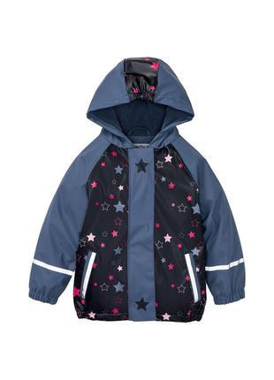 Детский дождевик на флисе, куртка грязепруф lupilu 122-128