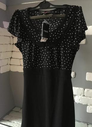Next платье в стиле ретро миди в горох