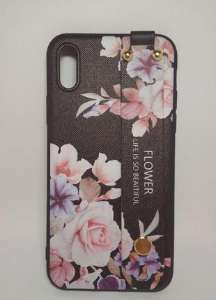Задня накладка iPhone X/XS Flower Rope Case Black