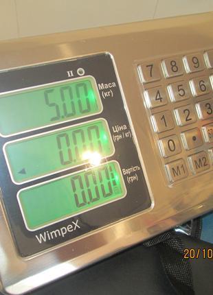 Весы Беспроводные Wimpex TCS-R2 (New) Wi-Fi 300кг 420х520мм 1год