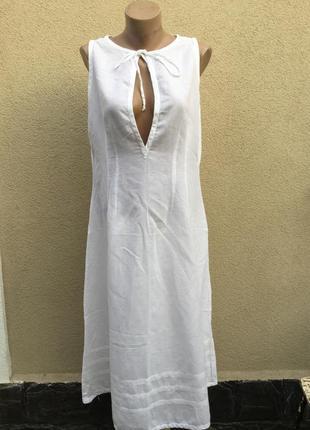 Белое платье,сарафан летний,тонкий,льняной,большой размер,jupi,