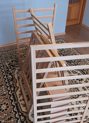 Кроватка детская из цельного дерева. Соня лд 12