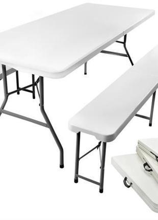 Стол стіл 180 см садовый набор складной + 2скамейки лавки.НОВИ...