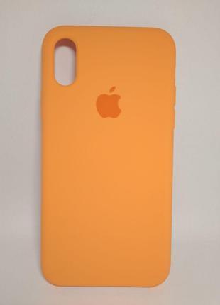 Задня накладка iPhone XR Original Soft Case Papaya