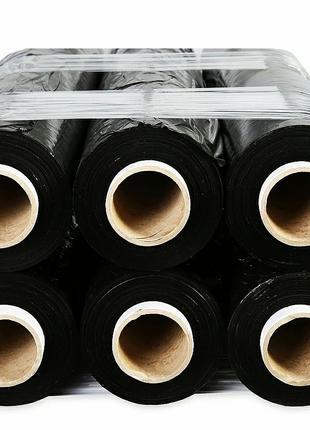 Стретч-пленка 2.7кг*50см*350м 17мкм черная (насыщенно)-6 шт.