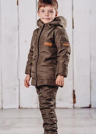 Зимний теплый костюм 104-128 р. на мальчика, комплект, куртка,...