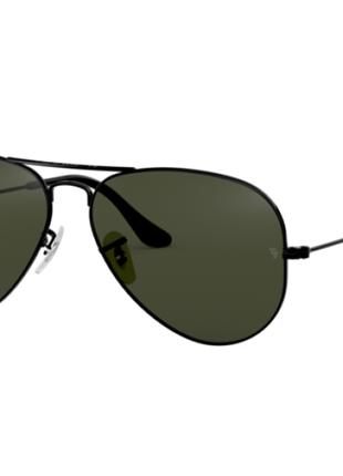 Черные солнцезащитные очки Ray Ban Авиатор/Aviator (дефект).