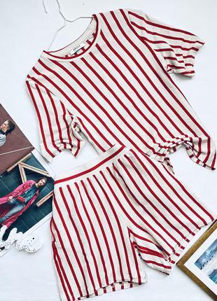 Домашний костюм пижама в полоску
