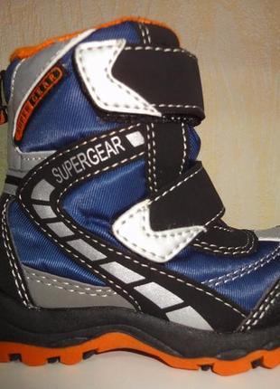 Зимние термо сапоги 22 р. на мальчика super gear, сапожки, бот...