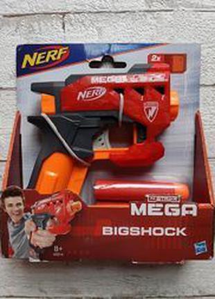 Пистолет Нерф с большими стрелами - Bigshock, N-Strike Mega, Nerf
