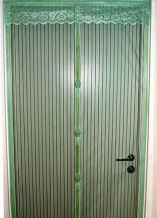 Антимоскитная сетка штора на магнитах Magic Mesh 100*210 см Or...