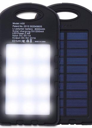 Портативное зарядное устройство солнечное Power Bank Solar 100...