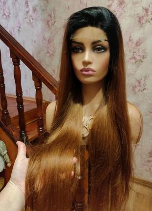 Парик натуральный из 100% натуральных волос 90 см
