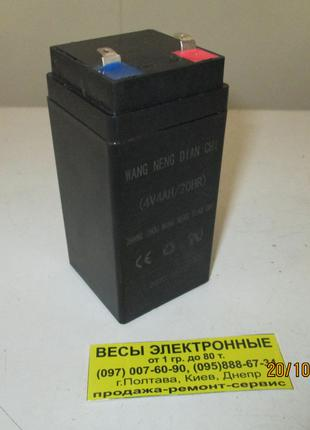 Аккумулятор (АКБ) Для Весов 4v/4ah май 2020г.в. Размер 100х47х47