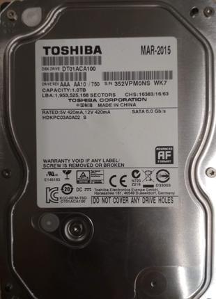 Винчестер Toshiba 1TB