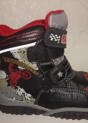 Зимние кожаные ботинки 24,25 р. b&g на мальчика, сапоги, зимов...