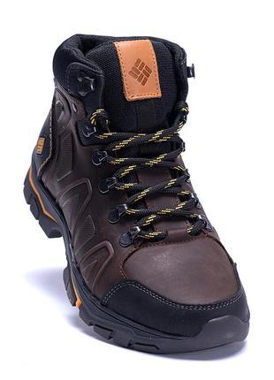 Мужские зимние кожаные ботинки на меху Columbia(40-45р)
