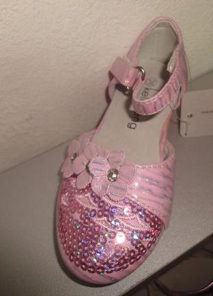 Нарядные туфли 23-32 р. на девочку розовые праздник, выпуск, с...