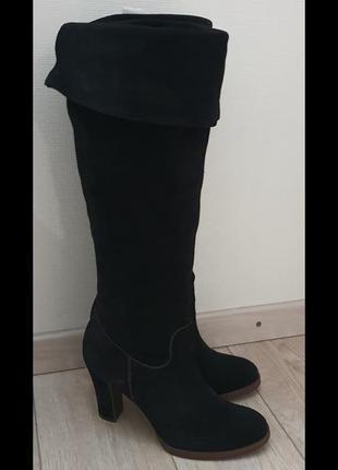 Geox, размер 40, черные замшевые сапоги