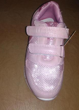 Кроссовки 29,31 р. jong golf на девочку, липучках, розовые, кр...