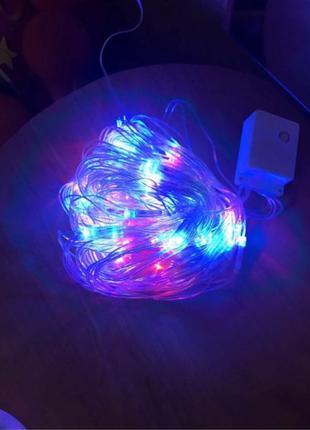 Гирлянда светодиодная 100 LED лампочек 3 метра