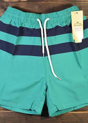 Мужские пляжные плавательные шорты (плавки) abercrombie & fitc...