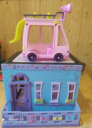 Домик и машинка Littlest Pet Shop(Пет шоп).Оригинал, куплен в США