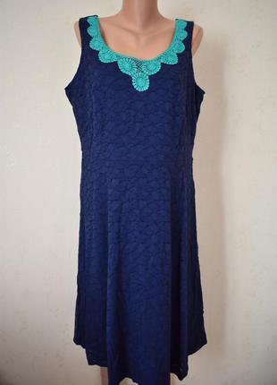 Красивое кружевное платье большого размера marks & spencer
