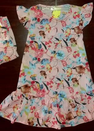 Family look платье для мамы и дочки