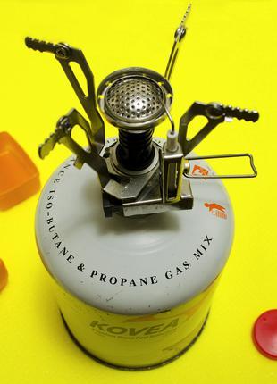 Компактная туристическая газовая горелка печка резьбовая epi-gas