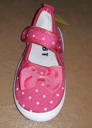 Текстильные туфли 26-31 р bbt на девочку