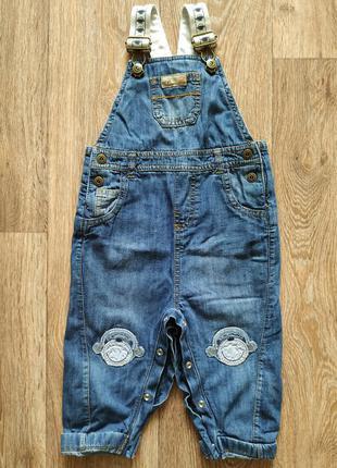 Класнючий джинсовий комбез на трикотажній підкдадці
