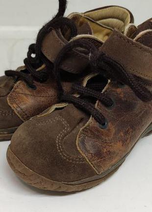 Кожаные деми ботинки 24 размер
